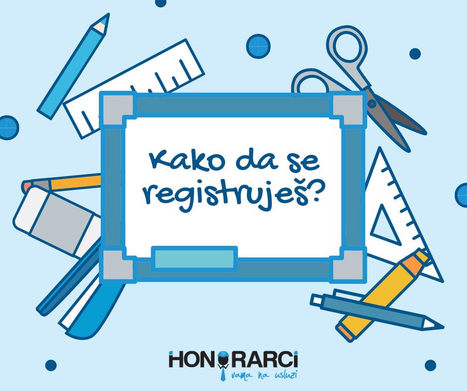 Kako da se registruješ?